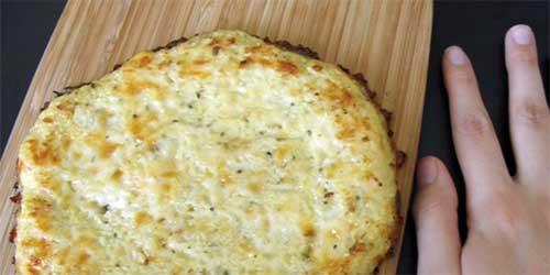 receta de base para pizza de coliflor
