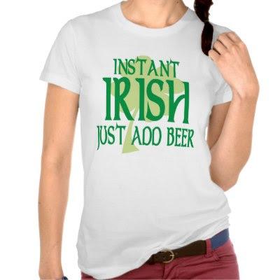 Instant Irish - Funny St. Pattys Day T-Shirt