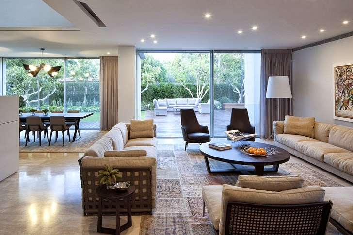 Second living room in Modern family home by Domb Architecture
