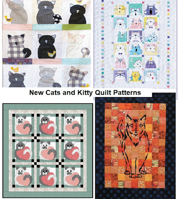 New Cats and Kittens to Quilt Patterns