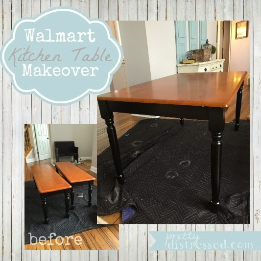 kitchen table makeover pretty distressed walmart kitchen table makeover 3226