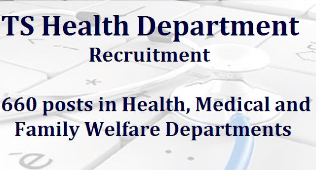 TS State, TS Jobs, TSPSC, TS Health Department, Health, Medical and Family Welfare
