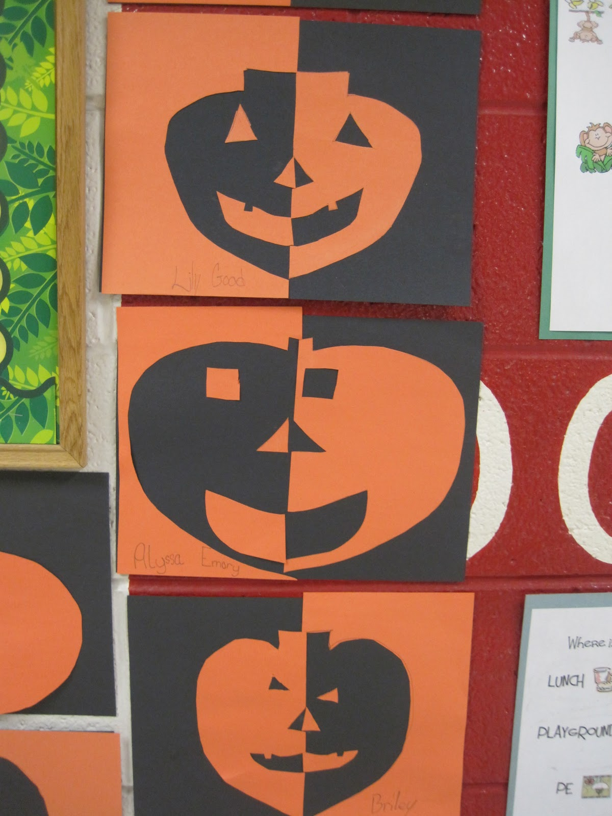 Savvy Second Graders Pumpkin Art