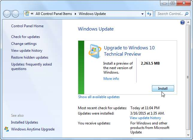 windows update assistent