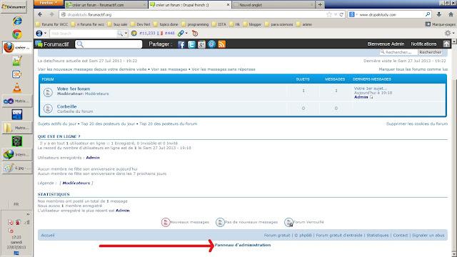 votre panneau d'administration de votre forum gratuit forumactif.com