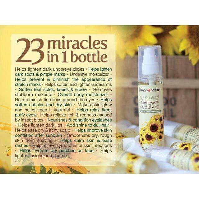Perawatan Natural dan Alami dengan Sunflower Beauty Oil dari Human Nature