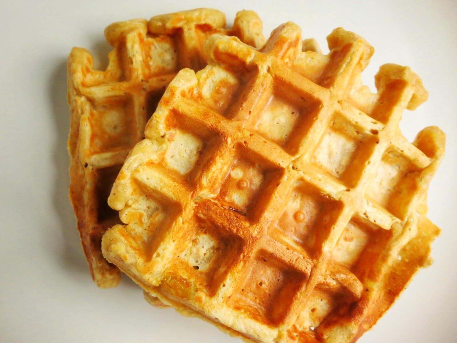 Waffles Maçã-Canela