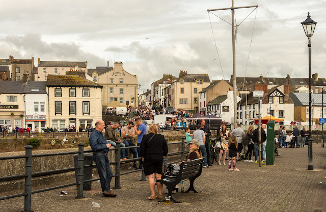 Photos of festivalgoers at South Quay, Maryport
