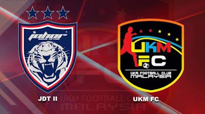 Live Streaming JDT II vs UKM FC Liga Premier 9.2.2019