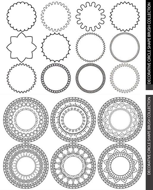 Decorative Circles Shape Brush