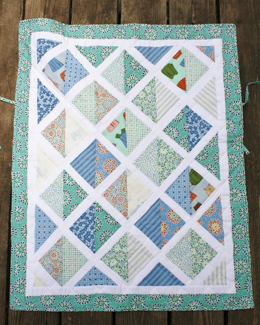 Sweet Pea And Pumkins Car Seat Baby Quilt