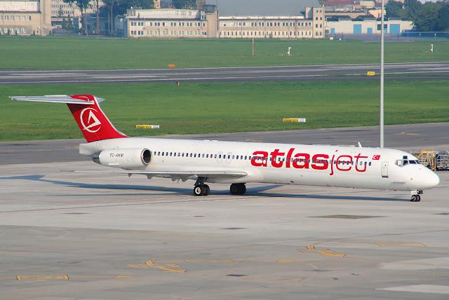 2007 yılında Isparta'da düşen uçak Atlasjet (TC-AKM) | McDonnell Douglas MD-83