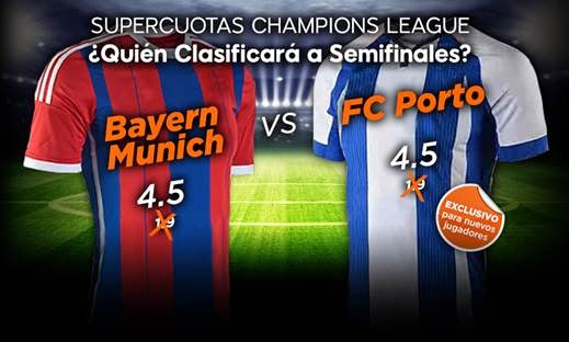 888sport Cuota Mejorada Champions League Bayern Munich vs Porto 21 abril