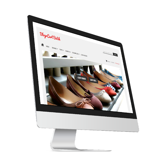 BlogrCart Butik Freemium pre-made shopping cart Blogspot template