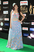 Amyra Dastur in Flower Print Choli Transparent Chunni at IIFA Utsavam Awards 38.JPG