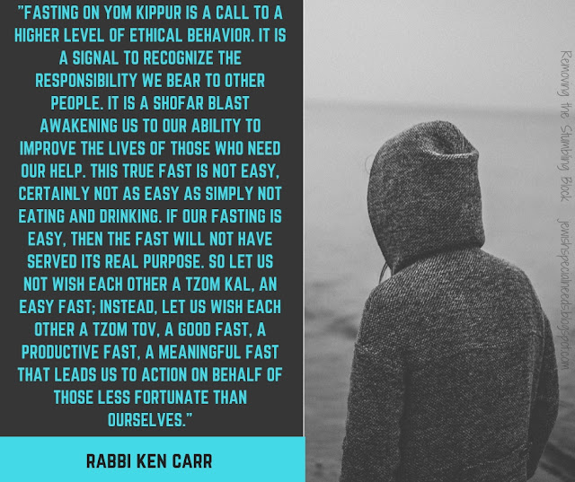 The purpose of fasting on Yom Kippur; Removing the Stumbling Block