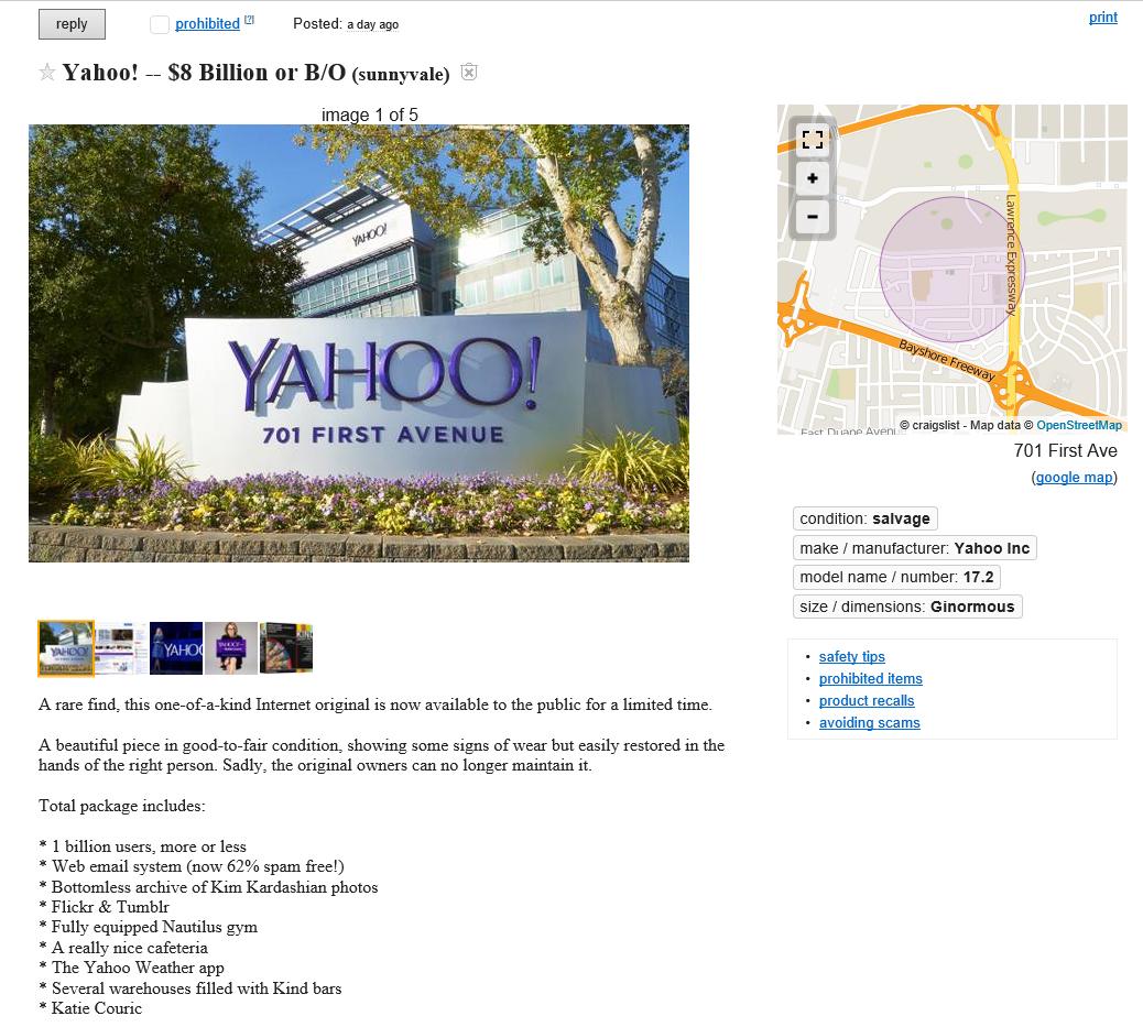 YAHOO for Sale on Craigslist | Words of Mass Destruction