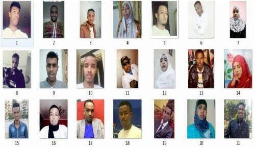 Pictures of somali migrants who died in Mediterranean Sea