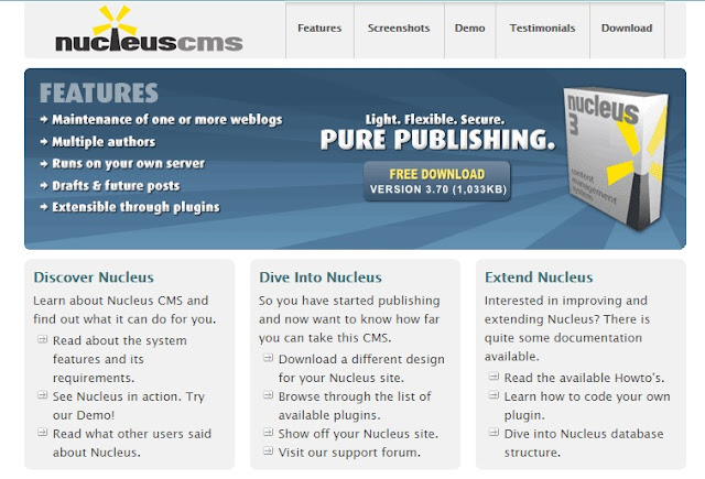 nucleuscms online software