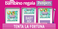 Logo Vinci gratis uno dei 51 kit Pampers con QuiMamme e IoeIlMioBambino