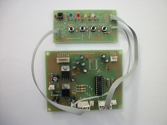 Tarjeta de control digital para amplificador de audio ensamblada.