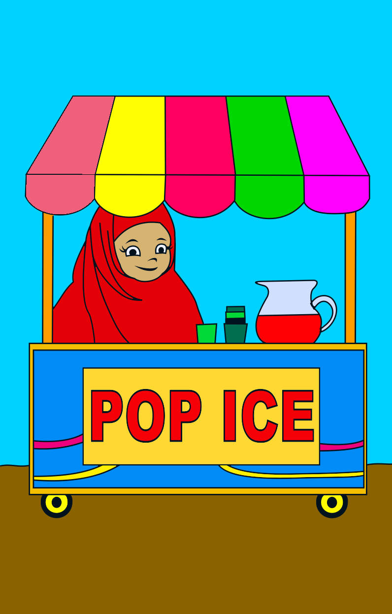 Mewarnai Penjual Pop Ice
