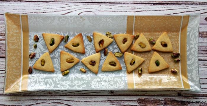 עוגיות פיסטוק - עוגיות חמאה בטעם פיסטוק