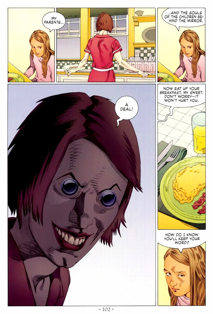 Read page 102, from Nail Gaiman and P. Craig Russell's Coraline graphic novel