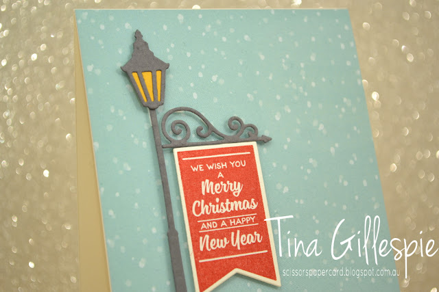 scissorspapercard, Stampin' Up!, Brightly Lit, Christmas Lamppost Thinlits, Christmas Around The World