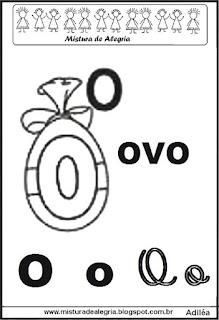 Alfabeto ilustrado letra O