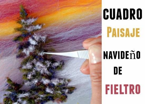 cuadros, fieltros, hogar, Navidad, fiestas, manualidades
