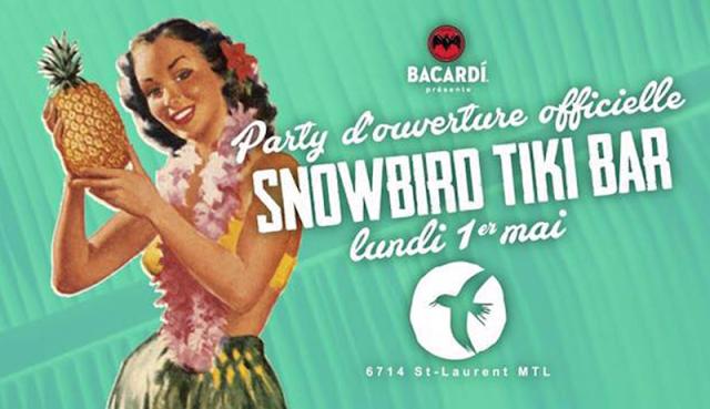 Snowbird Tiki Bar polynésie hawaii montréal