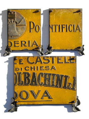 Tre cartegloria in cornice - antiquariato