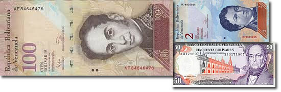 Dinheiro do mundo -Venezuela - Bolivar