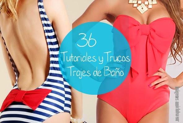 bañadores, bikinis, trajes de baño, trucos, labores, modificar, patrones