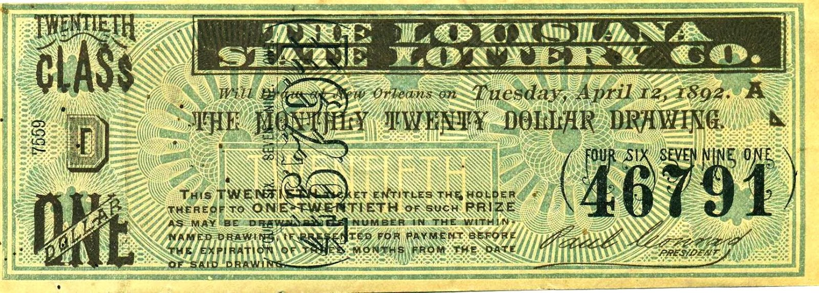 Paul Conrad and the Louisiana Lottery