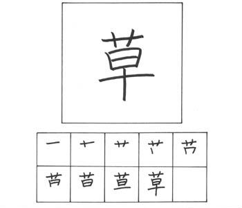kanji rumput