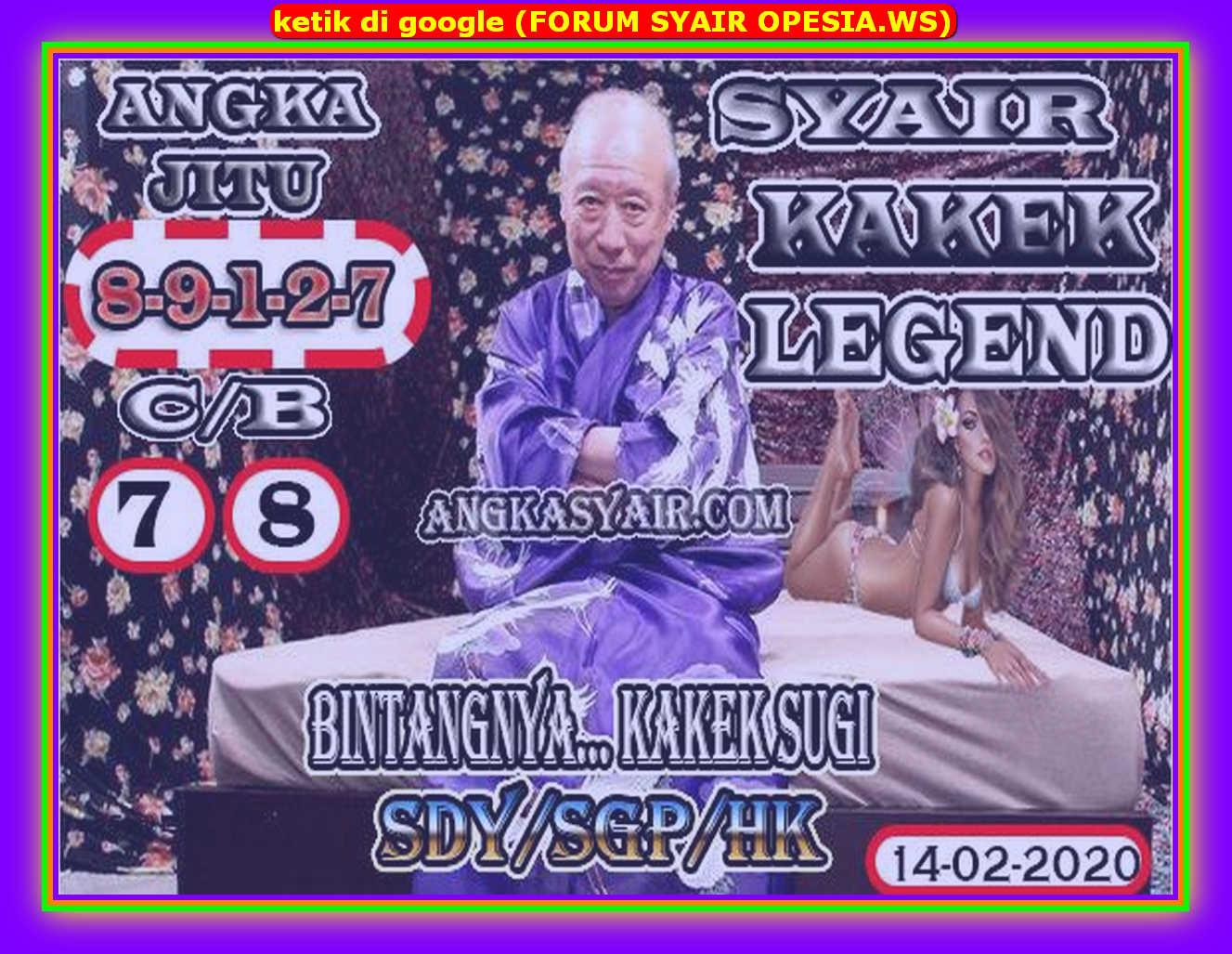 Kode syair Hongkong Jumat 14 Februari 2020 112