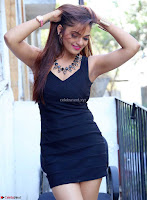Actress and Model Ashwini in Beautiful Short Black Mini Dress ~  Exclusive 013.jpg