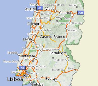 mapa de portugal em km DO FINITO AO INFINITO: Escalas mapa de portugal em km