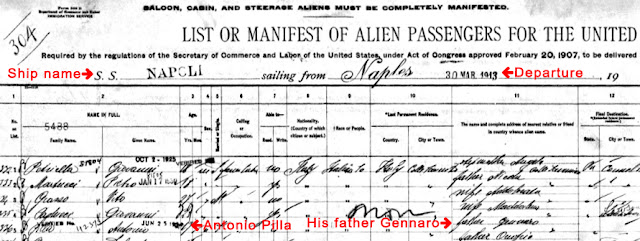 A ship manifest holds lots of details about your ancestor.