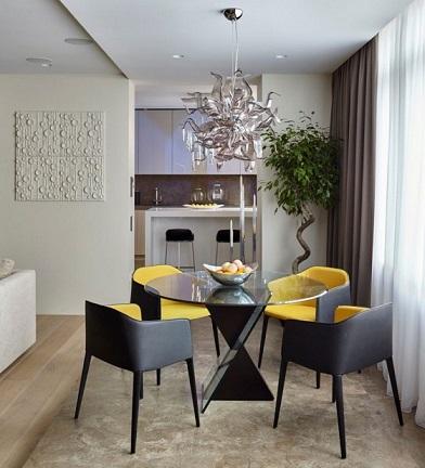10 Diseños de Comedores Pequeños Modernos - Colores en Casa