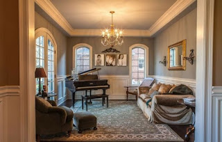 sala elegante con piano