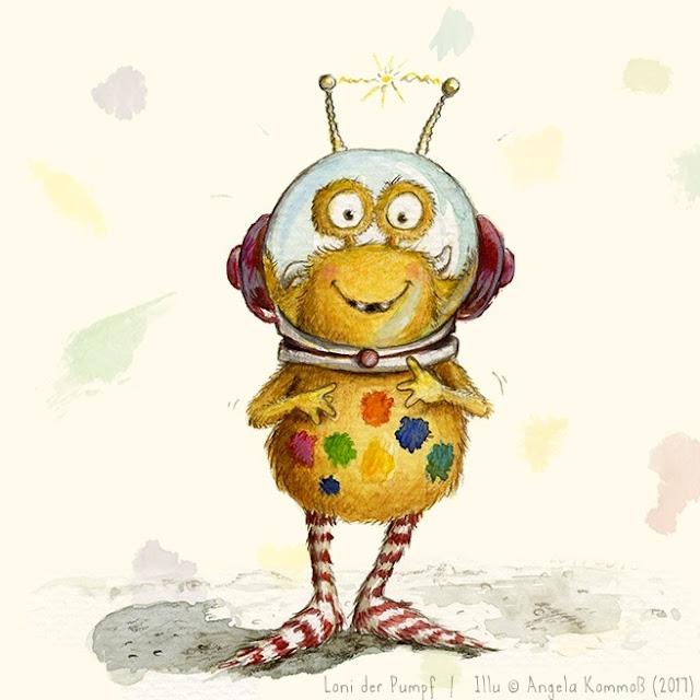 Pumpf, Loni lacht!, Kinderbuch, Glückspumpf, Glück, glücklich sein, Resilienz, Kinderbuchillustration