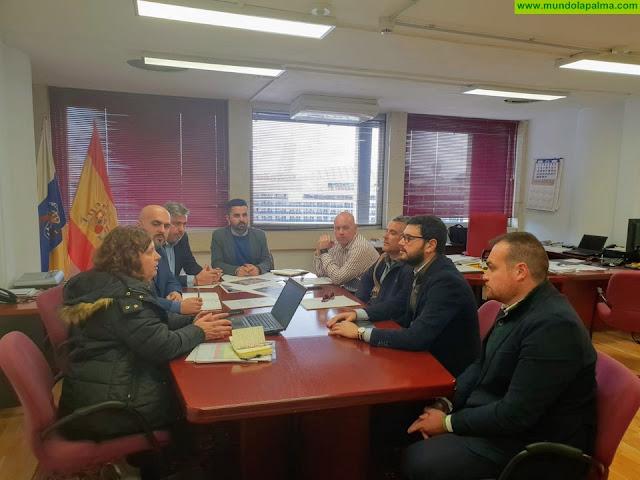 Obras Públicas redactará un proyecto para dar solución a los desprendimientos que se producen en el tramo de la LP-2 del Risco de La Concepción