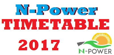 Npower Timetable 2017 - July/August Assessment Test Schedule for candidates