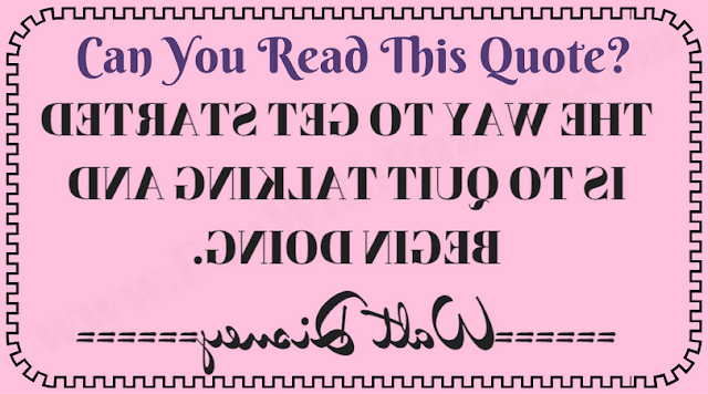 Backward Reading Quote Brain Teaser