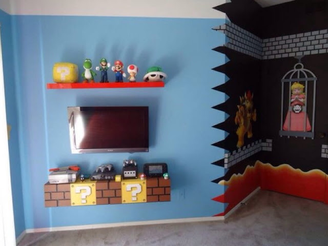 Super Mario Brothers Room Decor