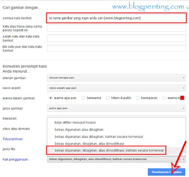 Mencari Gambar Bebas Hak Cipta