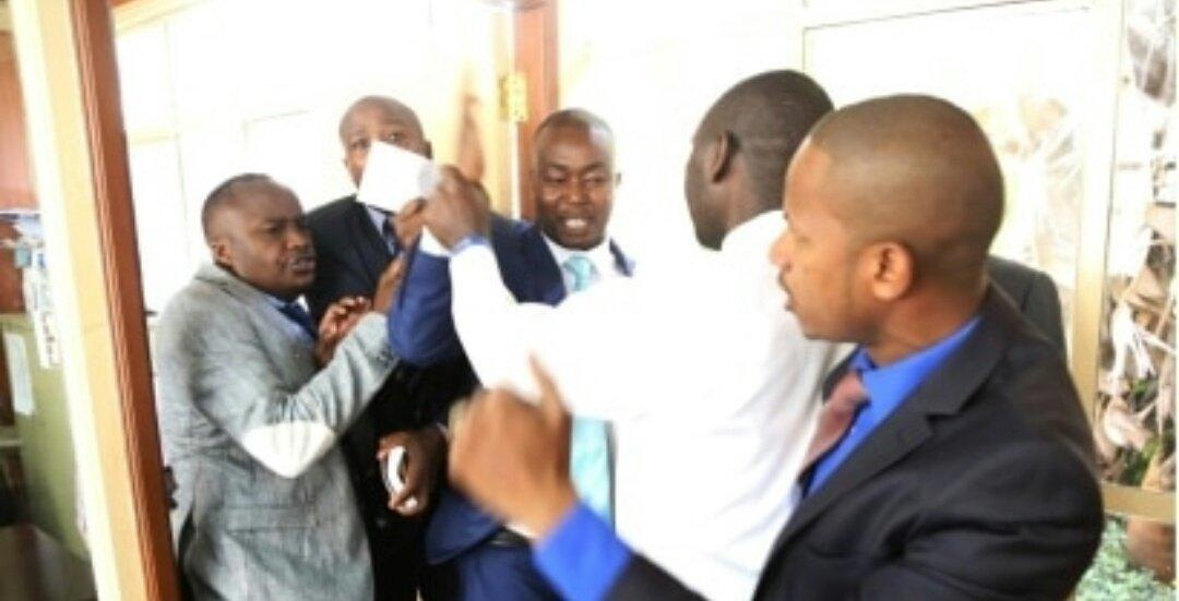 Babu Owino And Jaguar fighting